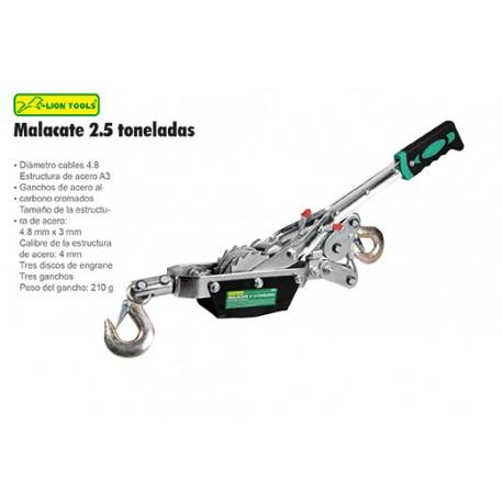 Malacate Manual 2.5 Ton Lion Tools