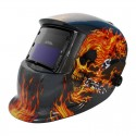 Careta electrónica para soldar Flaming Skull 6711 Adir