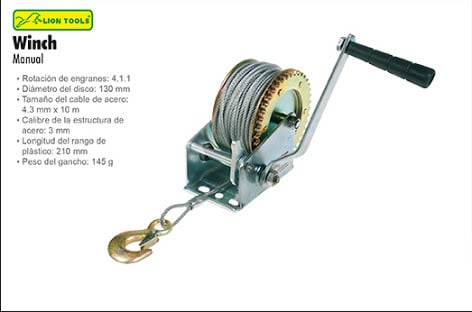 winch manual lion tools