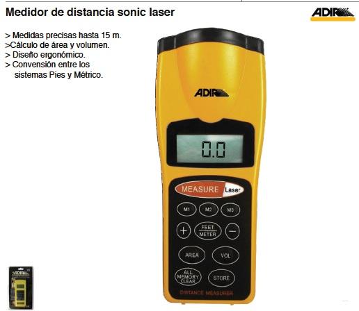 Medidor de distancia sonic laser dir 339 for Medidor de distancia laser