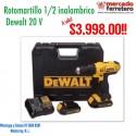 "ROTOMARTILLO 1/2 "" INALAMBRICO DEWALT  20 V  DCD776C2"