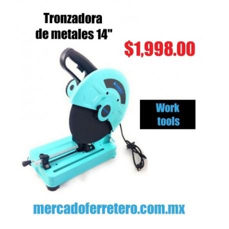 """TRONZADORA DE METALES WORK TOOLS 14"""" 2100 W"""