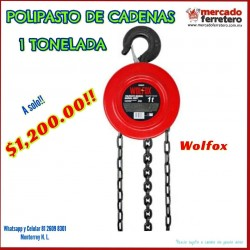 Polipasto de cadena 1 tonelada WF0842 Wolfox