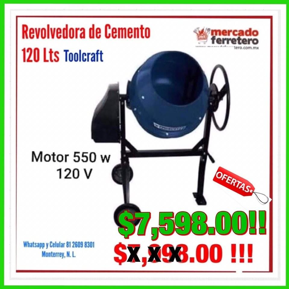 REVOLVEDORA DE CEMENTO 550 W TOOLCRAFT